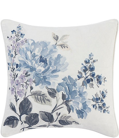 Laura Ashley Chloe Cottage Floral Embroidery Square Pillow