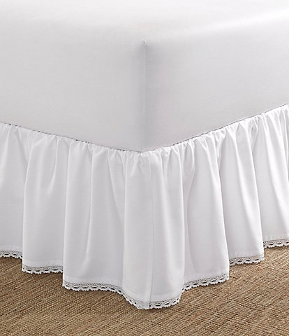 Laura Ashley Crochet Ruffled Bed Skirt