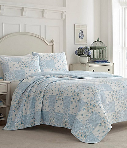 Laura Ashley Kenna Blue Quilt Mini Set