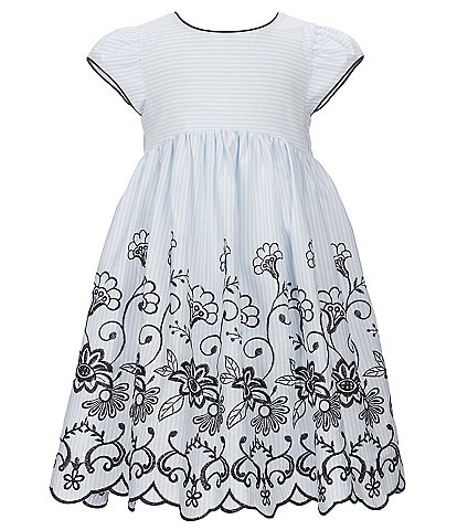 Laura Ashley Little Girls 2T-6X Cap Sleeve Embroidered Dress