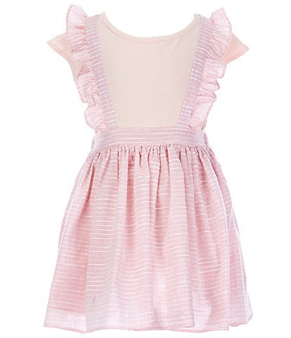 Laura Ashley Little Girls 2T-6X Short-Sleeve Tee & Striped Jumper Set
