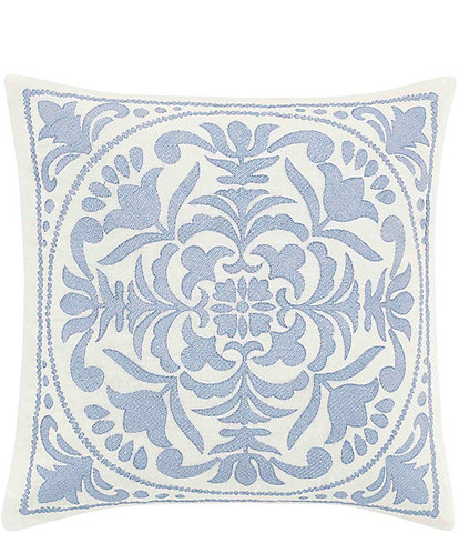 Laura Ashley Mila Embroidered Medallion Throw Pillow