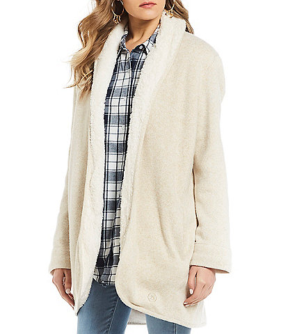 Lauren James Lenon Cozy Sherpa Lined Cardigan