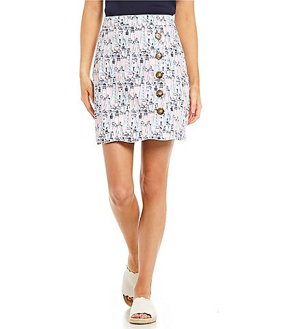 Lauren James Natalie Side Button Skirt