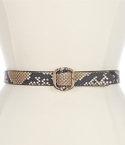 Lauren Ralph Lauren 1#double; Square Slide Snake Belt