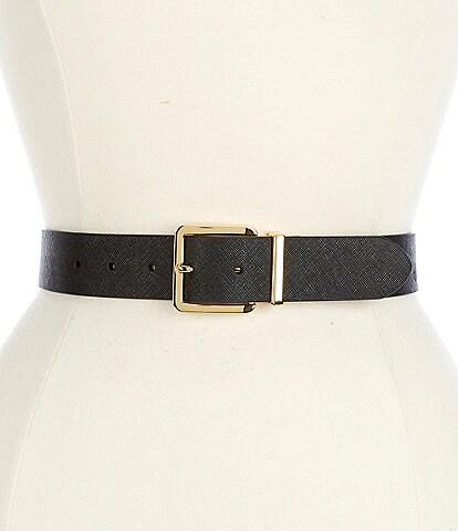 Lauren Ralph Lauren 1.5#double; Reversible Saffiano Leather Belt