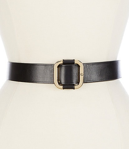 Lauren Ralph Lauren 1.5#double; Square Slide Buckle Belt