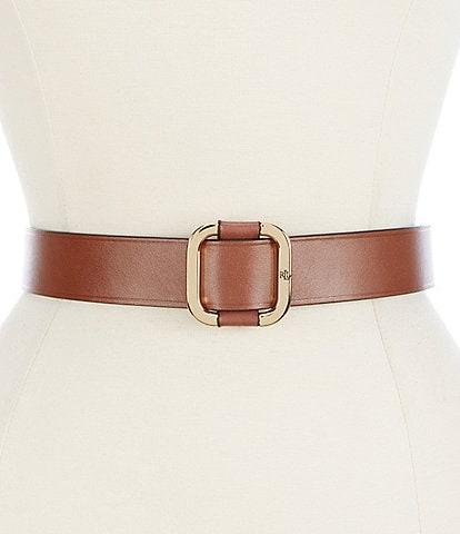 Lauren Ralph Lauren 1.5#double; Square Slide Buckle Belt