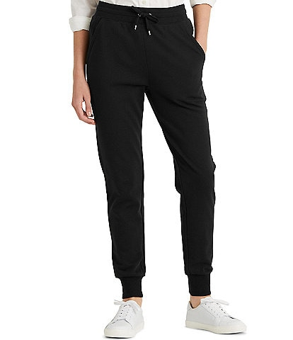 Lauren Ralph Lauren Ankle Length Ribbed French Terry Drawstring Joggers