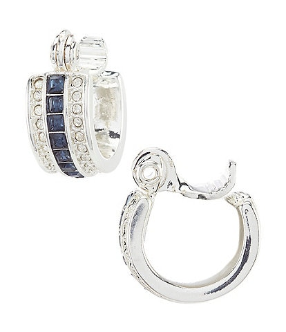 Lauren Ralph Lauren Blue Stone Hoop Earrings