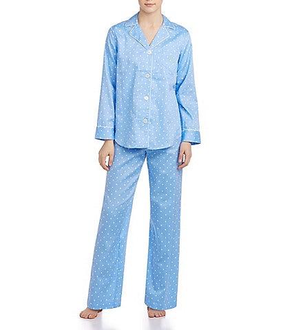 Lauren Ralph Lauren Classic Notch-Collar Sateen Pajamas