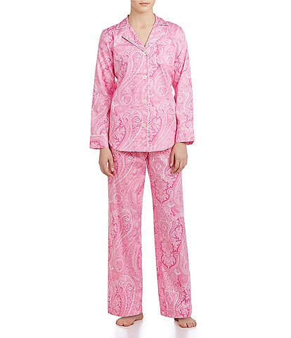 Lauren Ralph Lauren Classic Notch-Collar Sateen Pajamas