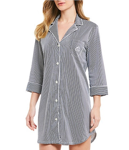 Lauren Ralph Lauren Classic Notch Collar Sleep Shirt