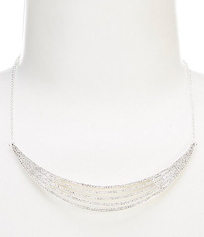 Lauren Ralph Lauren Crystal Multi Row Necklace