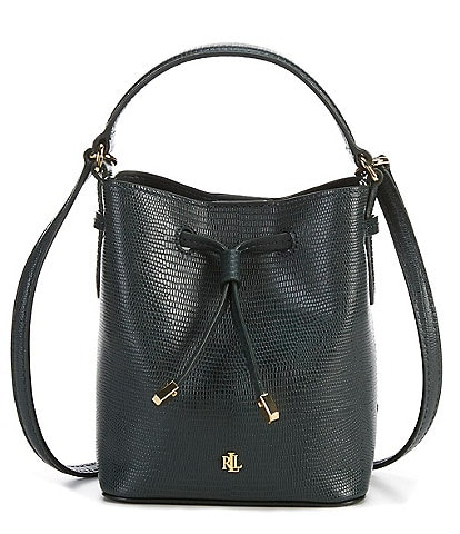 Lauren Ralph Lauren Debby Collection Marcy Leather Embossed Satchel Bag