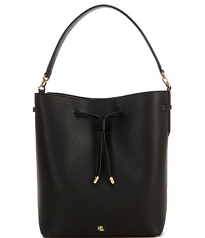 Lauren Ralph Lauren Debby Large Pebble Leather Drawstring Crossbody Bag