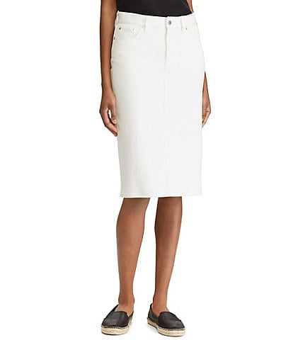 Lauren Ralph Lauren Denim Pencil Skirt