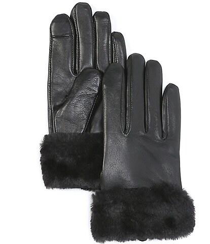 Lauren Ralph Lauren Faux Fur Lined Sheepskin Touch Gloves