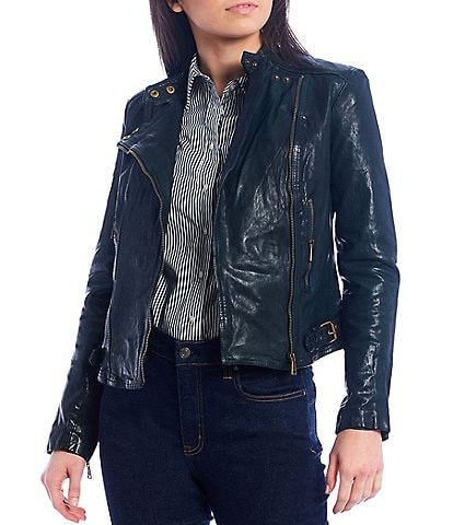 Lauren Ralph Lauren Genuine Leather Moto Jacket