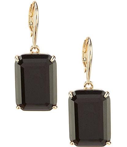 Lauren Ralph Lauren Gold Jet Drop Earrings