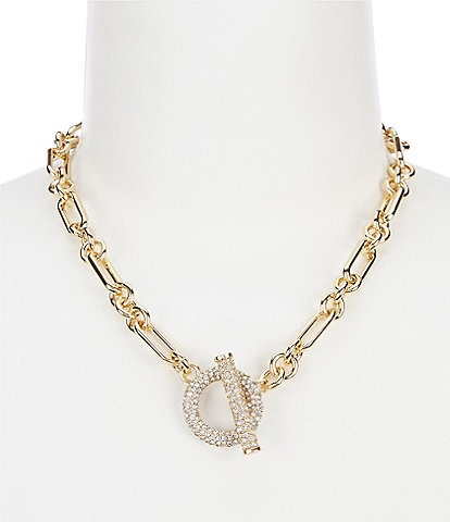 Lauren Ralph Lauren Gold Pave Toggle Collar Necklace