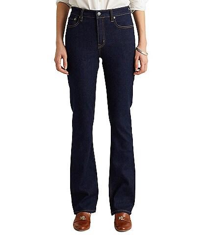 Lauren Ralph Lauren High Rise Bootleg Slimming Interior Panel Jeans