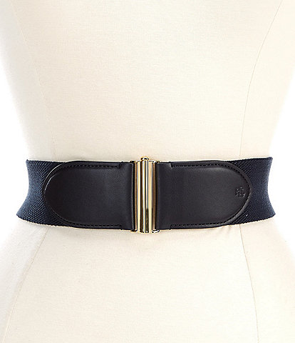 Lauren Ralph Lauren Interlock 2.25#double; Woven Stretch Belt