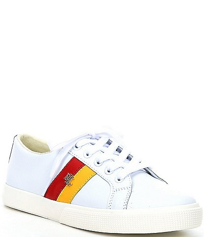 Lauren Ralph Lauren Janson II Leather Lace-Up Sneakers