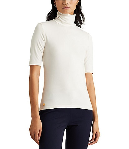 Lauren Ralph Lauren Knit Jersey Turtleneck Top