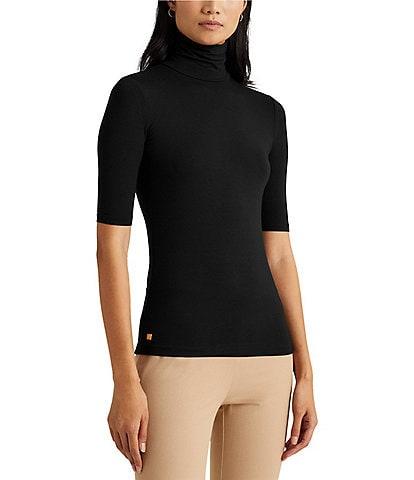 Lauren Ralph Lauren Knit Jersey Turtleneck Top