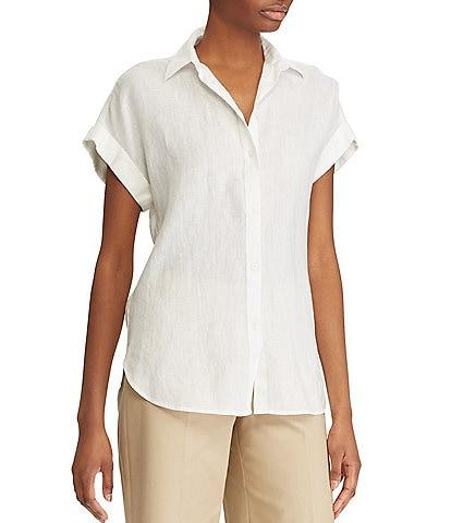 Lauren Ralph Lauren Linen Dolman-Sleeve Shirt