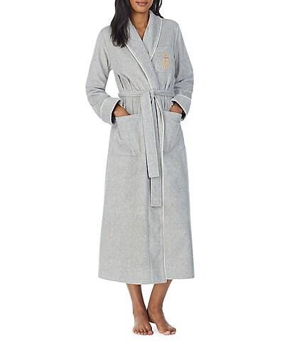 Lauren Ralph Lauren Logo Pocket Shawl Collar Long Robe