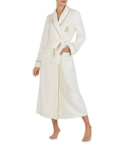 Lauren Ralph Lauren Long Fleece Wrap Robe
