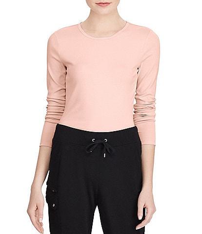 Lauren Ralph Lauren Long-Sleeve Stretch Cotton T-Shirt