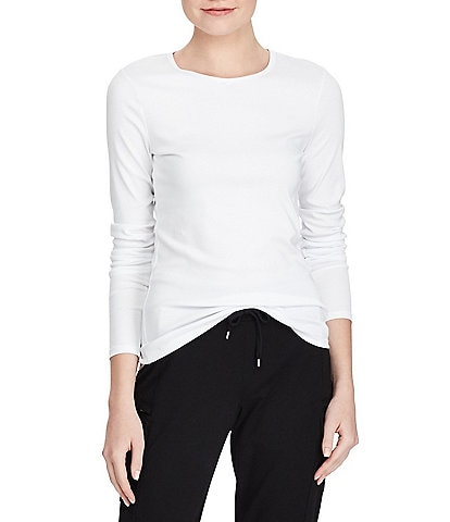Lauren Ralph Lauren Long-Sleeve Stretch Cotton T-Shirt
