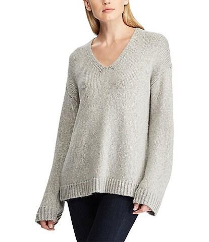 Lauren Ralph Lauren Marled V-Neck Sweater