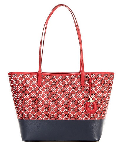 Lauren Ralph Lauren Signature Logo Print Medium Collins Tote Bag