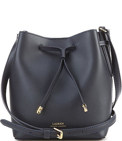 Lauren Ralph Lauren Mini Debby II Drawstring Leather Snap Bucket Bag