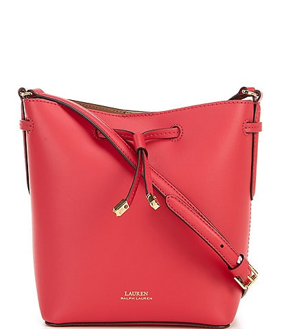 Lauren Ralph Lauren Mini Debby II Leather Drawstring Bucket Bag