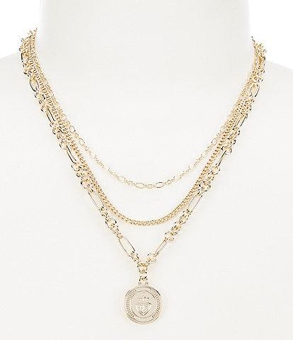 Lauren Ralph Lauren Multi Row Pendant Necklace