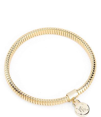 Lauren Ralph Lauren Padlock Omega Stretch Bracelet