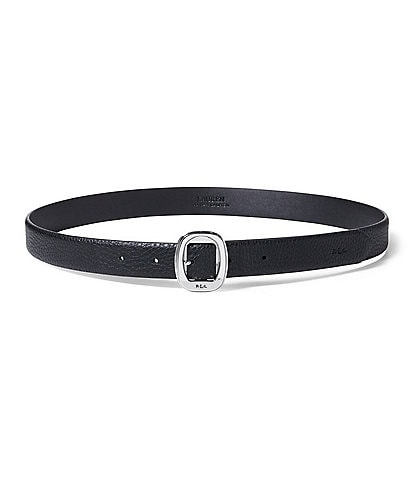 Lauren Ralph Lauren Pebble Round-Buckle Belt
