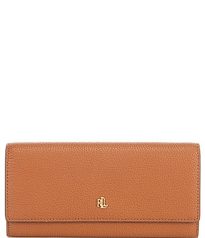Lauren Ralph Lauren Pebbled Leather Flap Continental Wallet