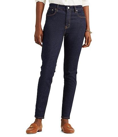 Lauren Ralph Lauren Petite Size High-Rise Skinny Ankle Jeans