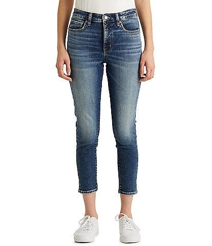 Lauren Ralph Lauren Petite Size High-Rise Skinny Cropped Jeans