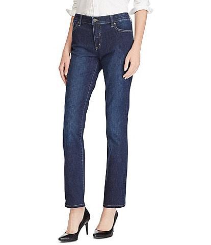 Lauren Ralph Lauren Petite Size Premier Straight Leg Jeans