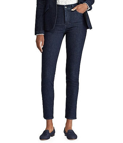 Lauren Ralph Lauren Petite Striped Regal Skinny Jean