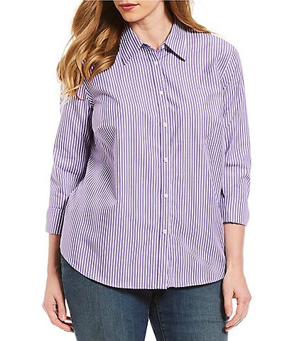 Lauren Ralph Lauren Plus Size Cotton Button-Down Shirt