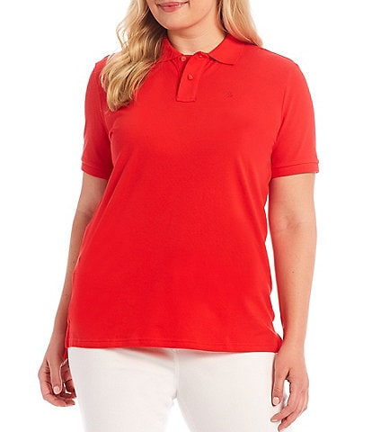 Lauren Ralph Lauren Plus Size Pique Polo Shirt