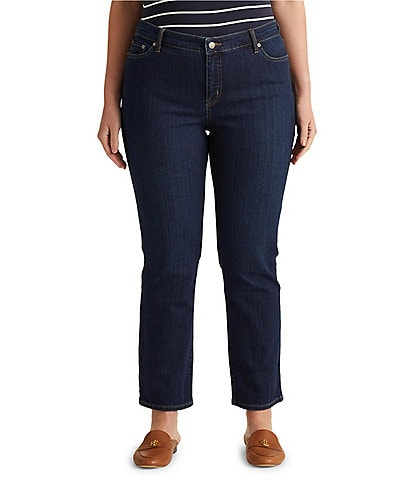 Lauren Ralph Lauren Plus Size Stretch Denim Premier Straight-Leg Jeans